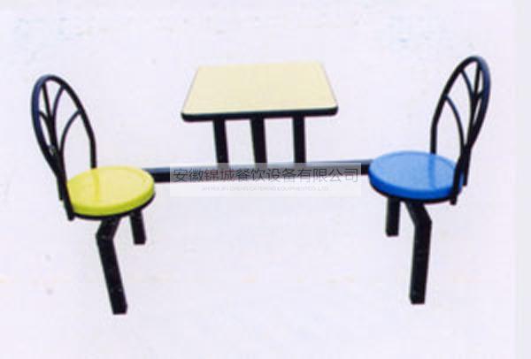 双人靠墙孔雀椅餐桌(可旋转)